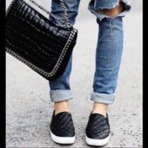 Steve Madden Endell Quilted Black Slip on Sneakers